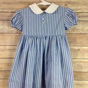 Vintage Jane Copeland Striped Dress Girls 4T